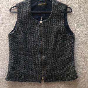 Tweed lined zippered vest
